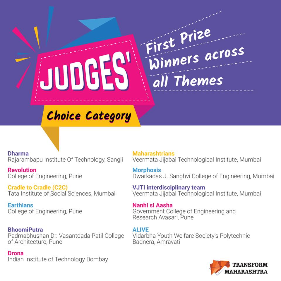 Judges choice winners