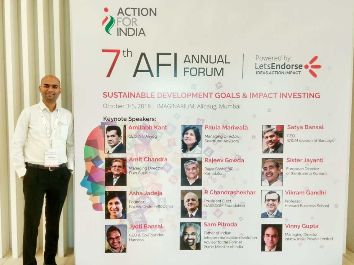 Our Founder Mr.Santosh Phad selected in top 100 social entrepreneurs in India by Action For India !